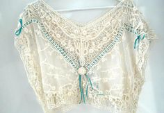 Lace tops for women crochet blouse off-white by ZazaofCanada