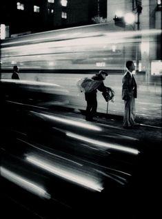 Stationary motion :: Train Station, Japan by W. Eugene Smith. 1961
