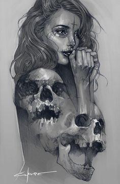 """blackzipperteeth: """"by Dan Chase """" Tattoo Sketches, Tattoo Drawings, Art Sketches, Graffiti Tattoo, Cholo Art, Chicano Art, Mexican Art Tattoos, Beautiful Dark Art, Totenkopf Tattoos"""