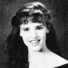 "JENNIFER GARNER - 1990 The Charleston, West Virginia high school student ignored beauty don'ts. ""I wasn't allowed to wear makeup, so I would sit in homeroom and put on eye shadow,"" she has said. ""[The compact] had four colors in it, but I used only the blue."""