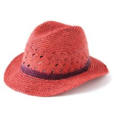 margarita on the beach and this hat?| Crochet Fedora Avery Coral
