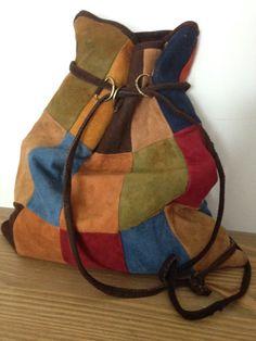 1970s Vintage Handmade Buck Suede Leather by KerahsVintageWash