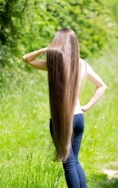 long silky hair!