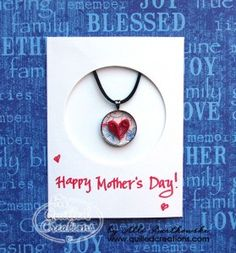 Quilled jewelry in a card - excellent!