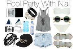 """""""Pool Party With Niall"""" by wtftowear ❤ liked on Polyvore"""