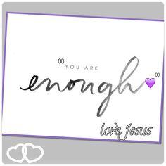 #youareenough #LoveTheSkinYouAreIn