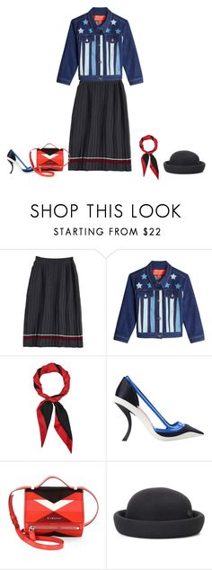 """""""YOU RE A STAR"""" by cocofacem ❤ liked on Polyvore featuring Hilfiger Collection, Gucci, Raf Simons, Givenchy, Maison Michel, StreetStyle, fab, CelebrityStyle and fashionart"""