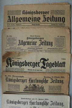 Verschiedene Königsberger Zeitungen