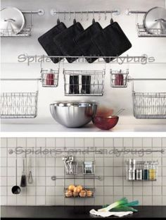 Bygel series for IKEA - perfect for my zero-storage kitchen.