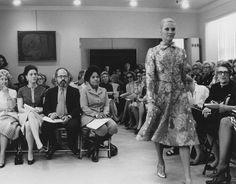 Eunice Johnson at Pauline Trigere Show 1971 by EbonyFashionFair, via Flickr