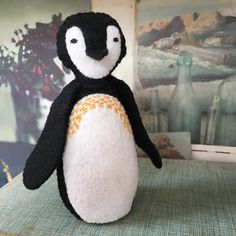 Kits available to make this cute penguin! Cute Penguins, Textile Design, My Design, Disney Characters, Fictional Characters, Dinosaur Stuffed Animal, Textiles, My Favorite Things, Toys