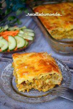 Börek à la viande hachée et aux légumes