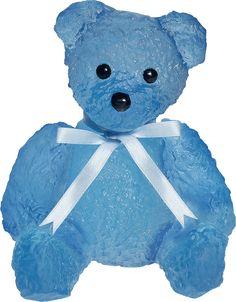 Daum Blue Medium Teddy Bear, designed by Serge Mansau - Limited Edition of 375 Ex