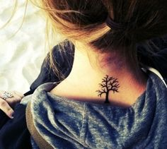 Tree Tattoo on neck