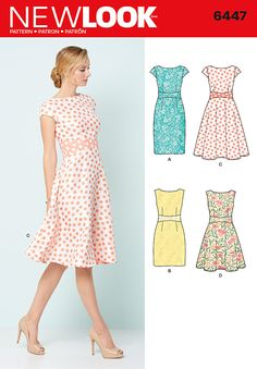 New Look Misses' Dresses 6447