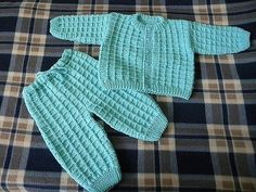 Suit for baby free pattern Baby Knitting Patterns, Knitting For Kids, Knitting Stitches, Baby Patterns, Crochet Baby, Knit Crochet, Layette Pattern, Crochet Abbreviations, Baby Layette