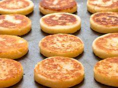 Sauteed Arepas  http://thelunacafe.com/arepas-venezuelan-cornmeal-cakes/