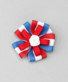 Look what I found on #zulily! Red, White & Blue USA Burst Clip by Posh Plaid #zulilyfinds