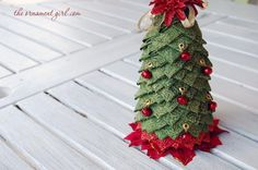 Quilting: No Sew Quilted Fabric Tree ♥ #nosew  #crafts #diy #fabric #quilt #quilting #christmas #xmas