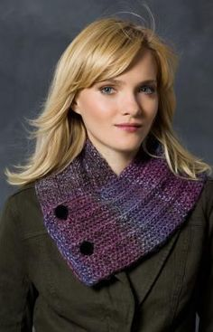 Button Up Neck Warmer Knitting Pattern