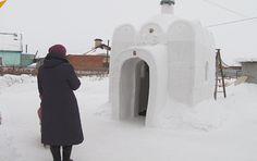 El iglú de Dios: una iglesia de nieve en una aldea siberiana