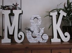 Personalized wood letters wedding letters  wedding decor photo prop bride and groom sign Mr  Mrs Wedding