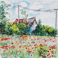 ARTFINDER: Farm with poppies by Kovács Anna Brigitta -