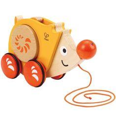 Walk-a-Long Hedgehog Toddler Pull Toy by Hape Toys https://www.educationaltoysplanet.com/walk-a-long-hedgehog-toddler-pull-toy.html #TOYSFORKIDS