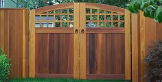 Portland Collection, Double Swing Gates with Custom Strap Hinges