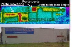 Thermographie de l'isolation thermique d'une façade latérale
