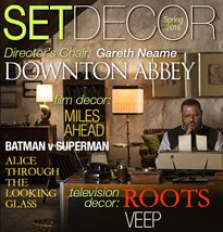 Spring - Summer 2016 Television Decor Features: ROOTS VEEP Director Chair: Gareth Neame: DOWNTON ABBEY Film Decor Features: MILES AHEAD BATMAN V SUPERMAN: Dawn of Justice ALICE THROUGH THE LOOKING GLASS Awards BAFTA, The Oscars, Critics Choice and more!  Press & News  SDSA Annual Awards Luncheon with Photos! Thank you for our General Membership Meetings at D2 Art & Modern Resale and Mitchell Gold + Bob Williams Glendale Galleria