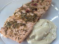 Salmone al vapore con salsa alla senape #salmone #vapore #fish
