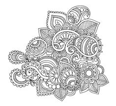 Clean Floral Element Doodle - Doodle is Art