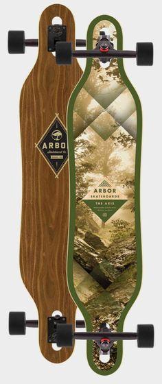 Arbor Axis 40in Walnut Longboard Complete 2014 Longboards Longboard Completes at 7TWENTY Boardshop, Inc