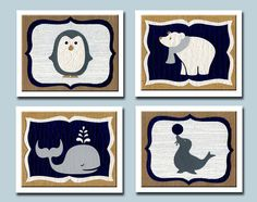 Arctic Animals Nursery Decor Nursery Art by HappyFramesWallArt, $48.00