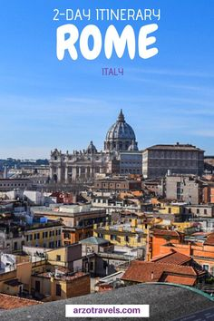 2 days in Rome isn't a lot, but with this itinerary you can see the best places in just two days. Where to go and what to do in Rome, Italy I Italy Travel Tips, Rome Travel, Travel Destinations, Travel Europe, Travelling Europe, 2 Days In Rome, Rome Winter, Rome Itinerary, Things To Do In Italy