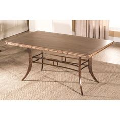 Emmons Washed Gray Rectangle Dining Table