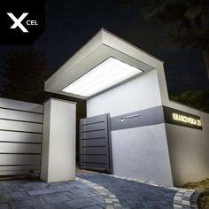 House Main Gates Design, Door Gate Design, House Front Design, Entrance Design, Entrance Gates, House Entrance, Modern Exterior, Exterior Design, Metal Garden Gates