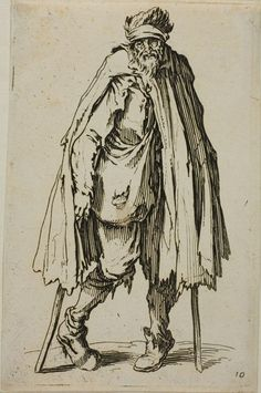 Beggar Leaning on a Stick, plate nineteen from The Beggars | The Art Institute of Chicago