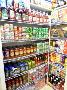 Key Prepper's Pantry Food Storage List For Pulling Through A Catastrophe: Easy Solutions In Assembling Your Pantry Clarified - Prep Step Food Storage Rooms, Food Storage Organization, Kitchen Organization Pantry, Pantry Storage, Organized Pantry, Storage Ideas, Coupon Organization, Organization Ideas For The Home, Canned Food Storage