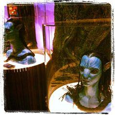 Smurf heads... errr... Avatar heads at @EMPMuseum. #seattle #travel