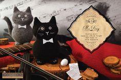 """Mr. Key"" cat amigurumi crochet toy, great for birthday gift or baby shower. Created by ""Hedgehog - Amigurumi & Crafts""."