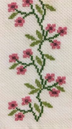 Beginning Cross Stitch Embroidery Tips - Embroidery Patterns Cross Stitch Rose, Cross Stitch Borders, Modern Cross Stitch, Cross Stitch Flowers, Cross Stitch Designs, Cross Stitching, Cross Stitch Embroidery, Embroidery Patterns, Hand Embroidery