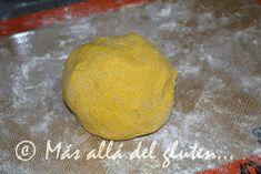 Más allá del gluten...: Arepas de Calabaza (Receta GFCFSF, Vegana) Sin Gluten, Crepes, Sweet Potato, Potatoes, Bread, Vegetables, Food, Vegan Pot Pies, Food Recipes