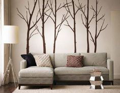 We're so thrilled to bring you our own take on the birch tree decals! All of the pieces can be rearranged any way you want... move the trees around however works best for you and place the birds wherever you want.