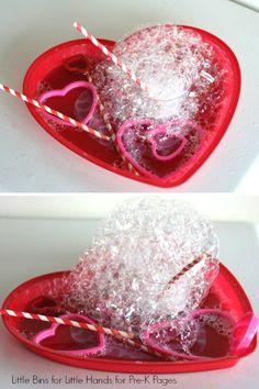 Valentine Bubble Science Activity