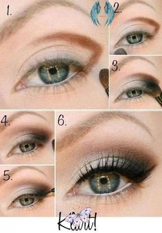 Top 10 Makeup Tutorials For Seductive Eyes Gülay<br> Want to get that seductive eyes look, but you don't really know how to combine the eyeshadow colors and make your eye shape even more enhanced with the Smokey Eyes, Smokey Eye Makeup, Makeup Eyeshadow, Eyeshadows, Green Eyeshadow, Daytime Eye Makeup, Kohl Eyeliner, Eyeshadow Palette, Makeup Tutorials