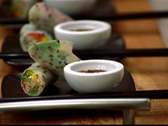 Get Rice Paper Wraps with Vegetables Recipe from Food Network