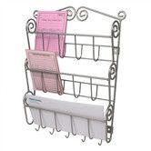 Found it at Wayfair - Scroll Wall Mount Letter Holder in Satin Nickel