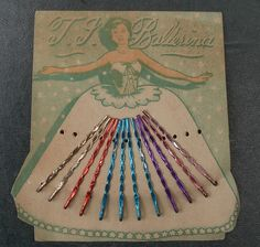 Charming vintage coloured bobby pin packaging. #vintage #hair #accessories